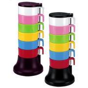ست لیوانهای رنگی (۶ تایی) رنگین کمان