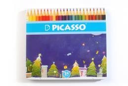 مداد رنگی جعبه فلزی ۲۴ رنگ پیکاسو