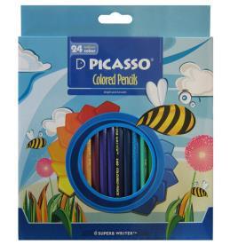 مداد رنگی 24 رنگ پیکاسو جعبه مقوایی