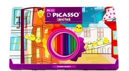 مداد رنگی 36 رنگ پیکاسو جعبه فلزی