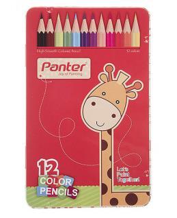 مداد رنگی 12 رنگ پنتر جعبه فلزی