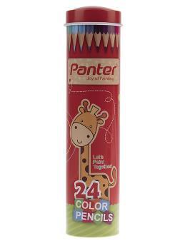 مداد رنگی 12 رنگ پنتر جعبه لوله ای