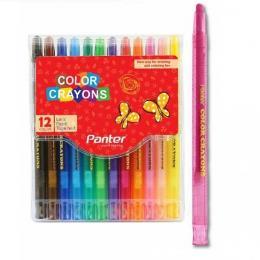 مداد شمعی 12 رنگ پنتر