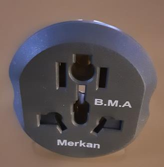 تبدیل ۳ به ۲ برق شارژر دیواری