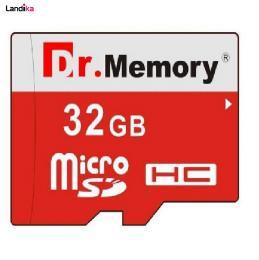 کارت حافظه microSDHC دکتر مموری مدل DR6022RVB کلاس 10 استاندارد UHS-I U1 سرعت 80MBps ظرفیت 32 گیگابایت به همراه آداپتور microSD