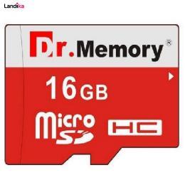 کارت حافظه microSDHC دکتر مموری مدل DR6022RVB کلاس 10 استاندارد UHS-I U1 سرعت 80MBps ظرفیت 16 گیگابایت به همراه آداپتور microSD