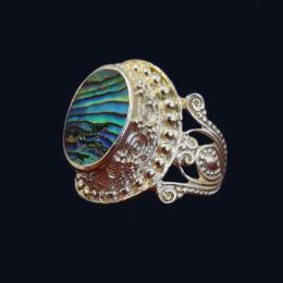 انگشتر نقره صدف ماسیا مدل سرانیلا