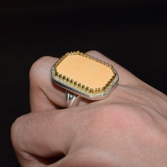 انگشتر نقره صدف ماسیا مدل سارما