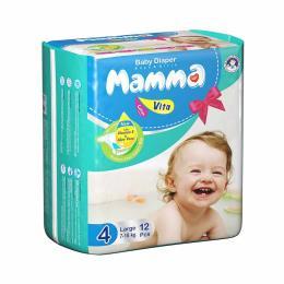 پوشک ماما سایز بزرگ 3 بسته 12 عددی -36 عدد