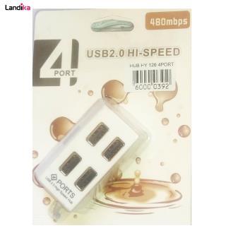 هاب 4 پورت USB 2.0 مدل Hi-Speed