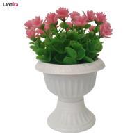 گلدان به همراه گل مصنوعی مدل شمشاد