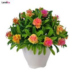 گلدان به همراه گل مصنوعی مدل شمشاد توپی