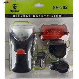 چراغ جلو و عقب دوچرخه سان بایک کد SH-302