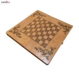 صفحه شطرنج طرح مینیاتور به همراه کاور پارچه ای