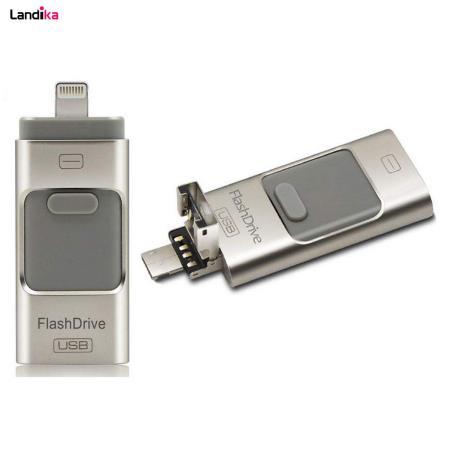 فلش مموری سه کاره Flash Drive ظرفیت 64 گیگابایت