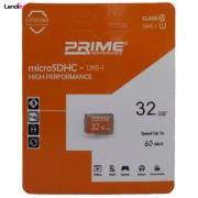 کارت حافظه microSDHC پرایم کلاس 10 استاندارد UHS-I U1 سرعت 60MB/s ظرفیت 32 گیگابایت