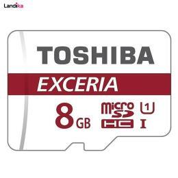 کارت حافظه microSDHC توشیبا مدل EXCERIA M302 کلاس 10 استاندارد UHS-I U1 سرعت 48MBps ظرفیت 8 گیگابایت