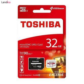 کارت حافظه microSDHC توشیبا مدل EXCERIA M302-EA کلاس 10 استاندارد UHS-I U1 ظرفیت 32 گیگابایت به همراه آداپتور SD