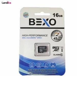 کارت حافظه microSDXC بکسو کلاس 10 استاندارد UHS-I U1 سرعت 45MBps ظرفیت 16 گیگابایت