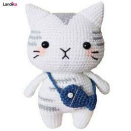 عروسک بافتنی گربه مدل تابی