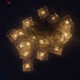 ریسه کریستالی ۳ متری طرح ورقه ای آفتابی