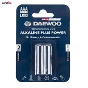 باتری نیم قلمی دوو مدل Alkaline plus Power بسته 2 عددی