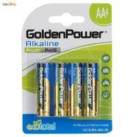 باتری قلمی گلدن پاور مدل Power P Plus US بسته 4 عددی
