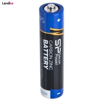باتری قلمی و نیم قلمی سیلیکون پاور مدل Carbon Zinc بسته 24 عددی