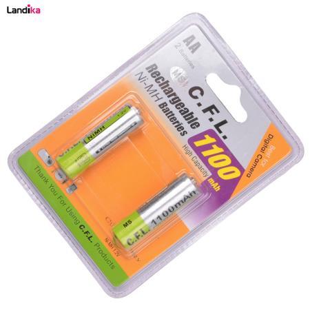 باتری قلمی قابل شارژ CFL مدل 1100mah AA بسته 2 عددی