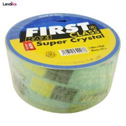 نوار چسب پهن رازی مدل first super crystal عرض 48 میلی متر