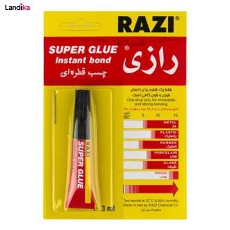 چسب قطره ای رازی Super Glue حجم ۳ میلی لیتر