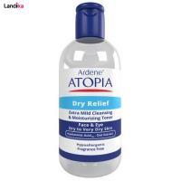 محلول پاک کننده آرایش صورت آردن مدل Atopia حجم 250 میلی لیتر