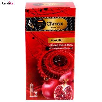 کاندوم کلایمکس مدل magic 7 بسته 12 عددی به همراه روغن زالو طراوت کد 60 حجم 60 میلی لیتر