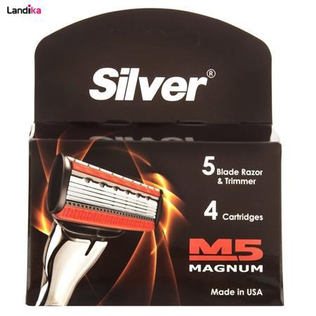 تیغ یدک 4 عددی سیلور مدل M5 Magnum