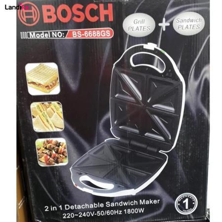 ساندویچ ساز دو کاره بوش مدل BS-6688GS