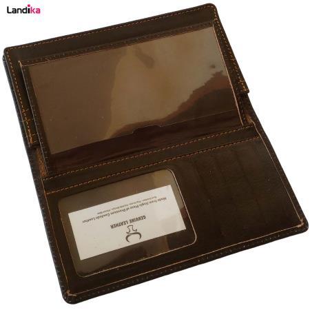 کیف پول و موبایل چرم طبیعی مدل VL7