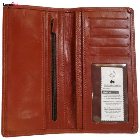 کیف پول و موبایل چرم طبیعی مردانه مدل VL17
