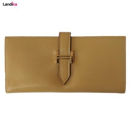کیف پول زنانه چرم طبیعی مدل WL15