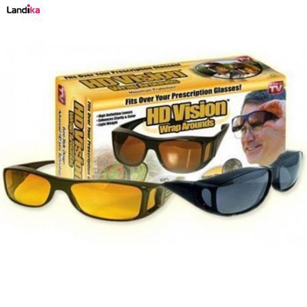 عینک آفتابی اچ دی ویژن مدل یورو استایل مجموعه دو عددی