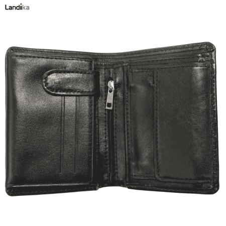 کیف پول جیبی چرم طبیعی مردانه مدل GL10