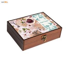 جعبه چای و نسکافه چوبی مدل 120