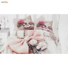 سرویس ملحفه ای گجلر استانبول مدل Linda دو نفره 4 تکه
